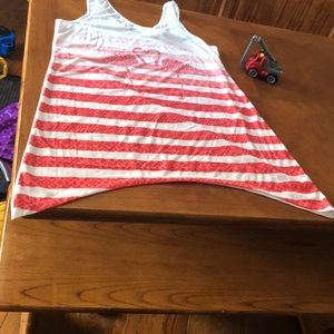 OP womans tank with red pink flamingos: new